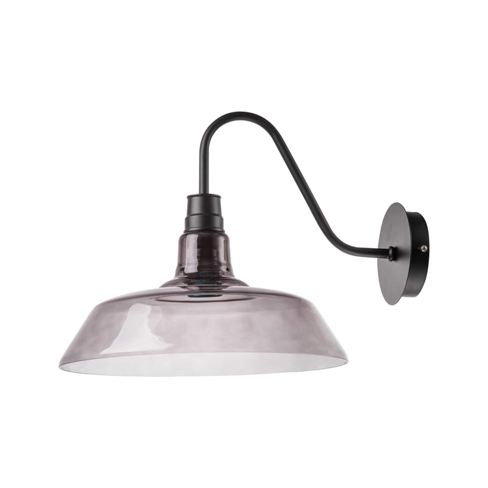 elevenpast Classic Smokey Glass Wall Light