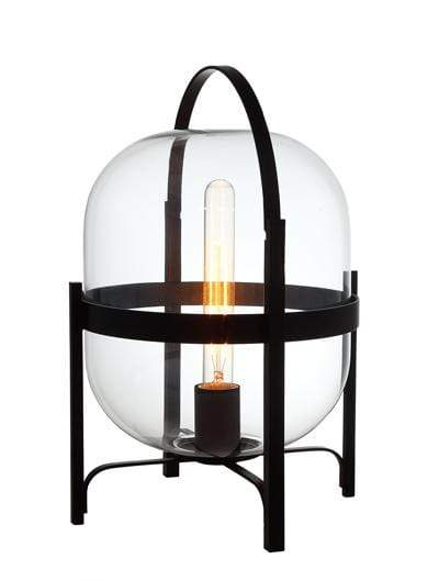 elevenpast Clear Hallstat Black Table Lamp