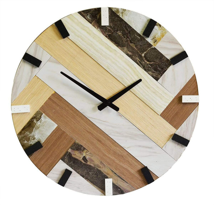 elevenpast Clocks Wood & Marble Clock