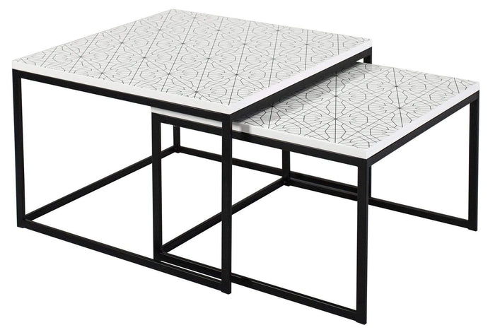 elevenpast Coffee tables Moroccan Coffee Table Square Nesting