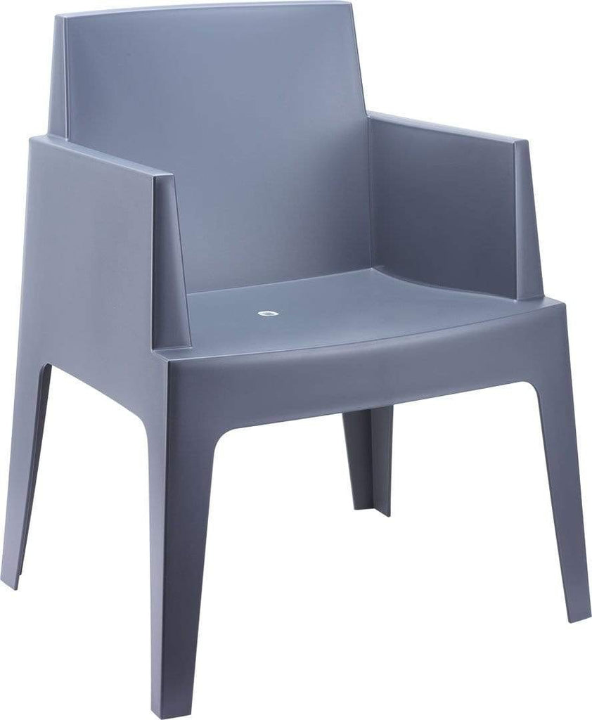 elevenpast Dark Grey Box Arm Chair