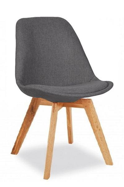 elevenpast Dark Grey / Oak square Upholstered Eames Inspired Chair