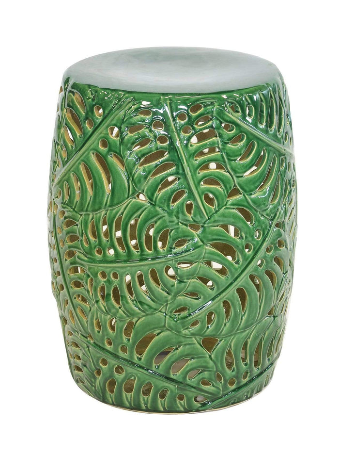 elevenpast decorative MONSTERA GARDEN STOOL