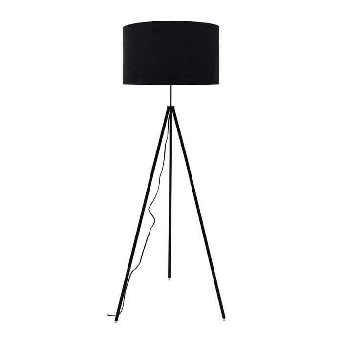 elevenpast Floor lamps Lux Black Metal Floor Lamp