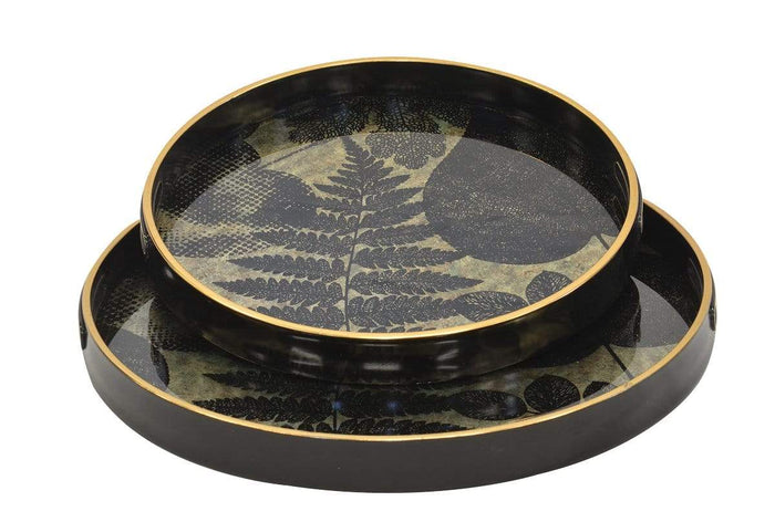 elevenpast GLASS TRAY FERN SET