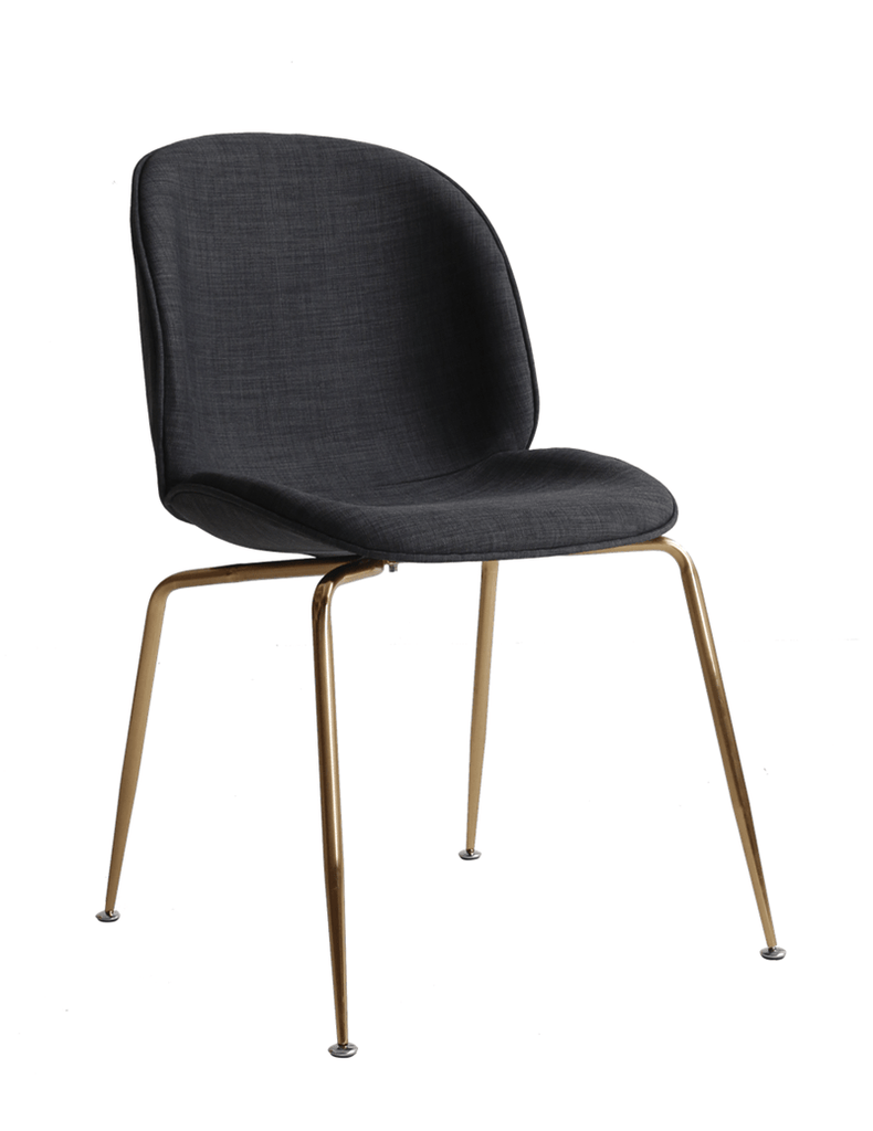 elevenpast Gold / Dark Grey Upholstered Beetle Chair