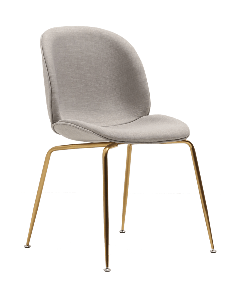 elevenpast Gold / Light Grey Upholstered Beetle Chair