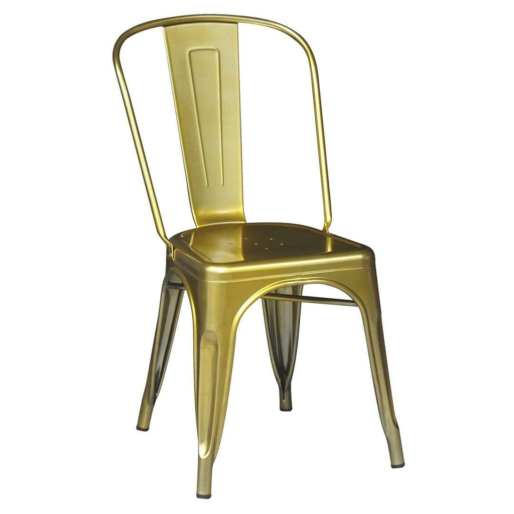 elevenpast Gold Metalic Tolix Chair
