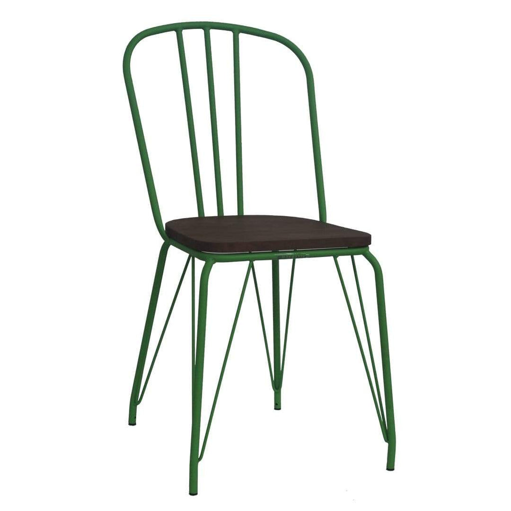 elevenpast Green Hairpin Wood Chair