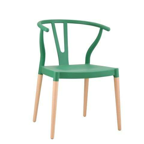 elevenpast Green Wegner Wishbone Replica Cafe Chair