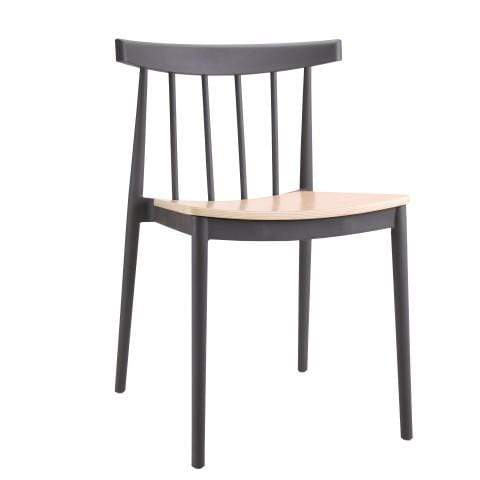 elevenpast Grey Tokyo Wood Seat Cafe Chair