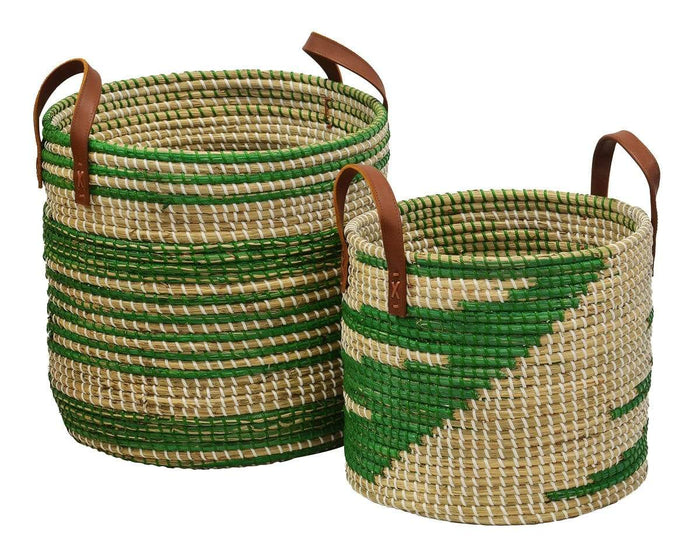 elevenpast Large / Green Seagrass Basket