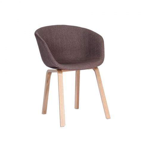 elevenpast Light Brown Upholstered Replica Hay Chair