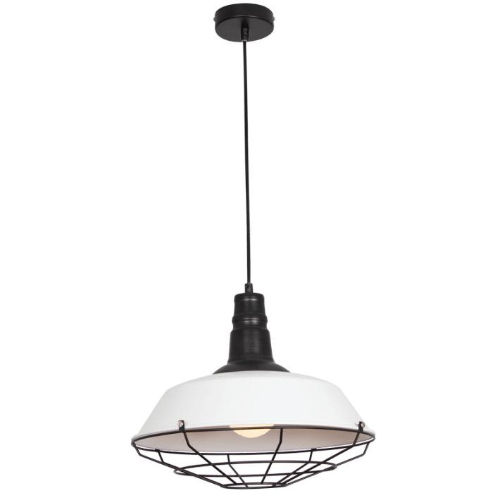 elevenpast lighting Black/White Elliptical Pendant