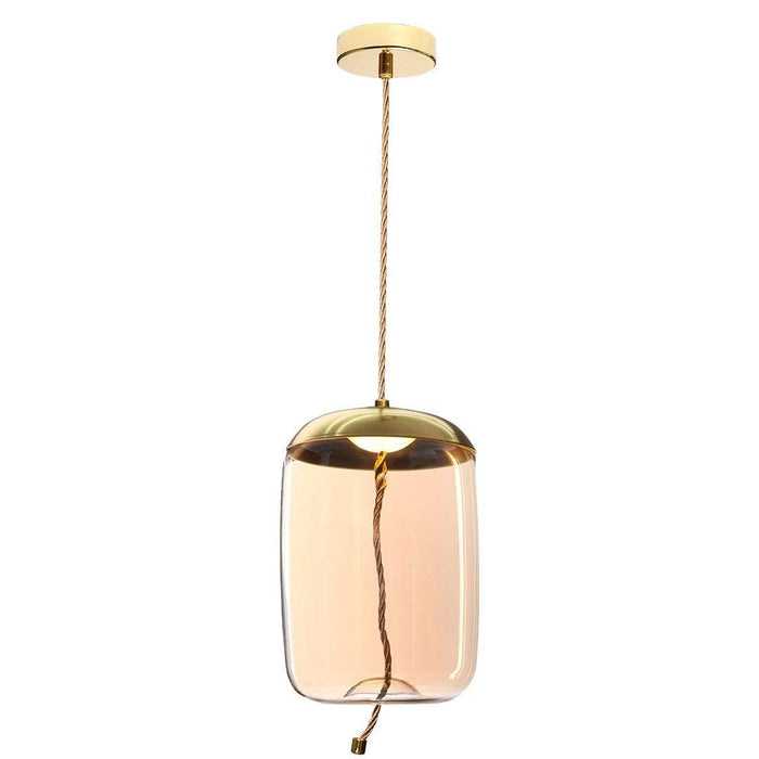 elevenpast lighting Gold/Amber LED Beehive Pendant