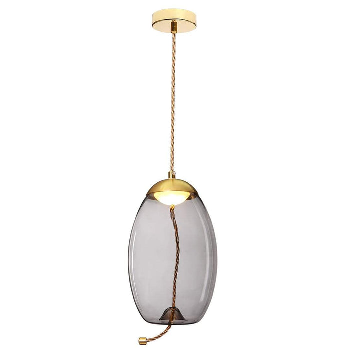 elevenpast lighting Gold/Smoke LED Glass Droplet