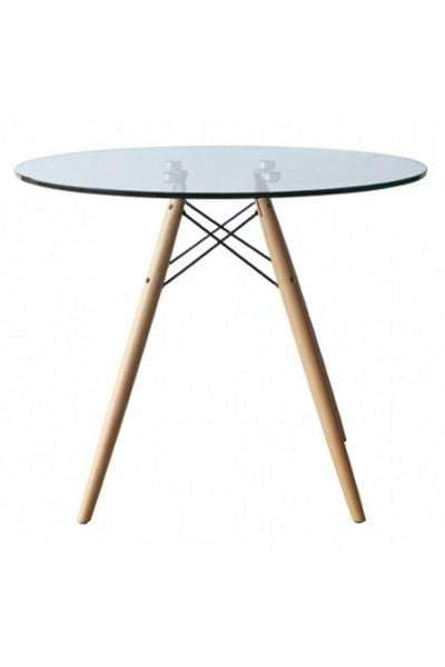 elevenpast Medium Replica Eames Glass Dining Table