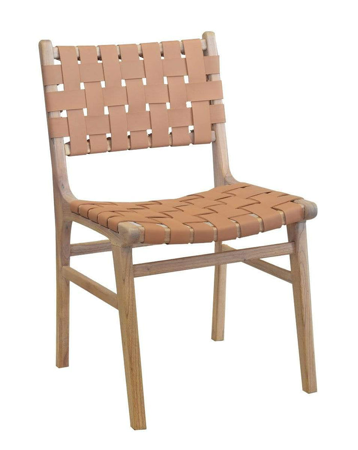 elevenpast NUMADU BLUSH LEATHER DINING CHAIR