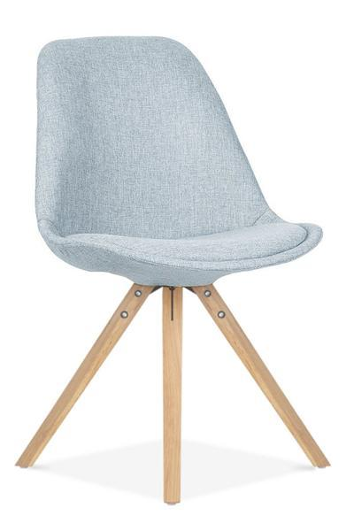 elevenpast Pale Blue / Oak Round Upholstered Eames Inspired Chair