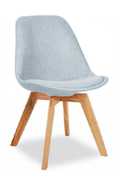 elevenpast Pale Blue / Oak square Upholstered Eames Inspired Chair
