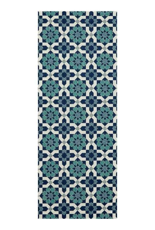 elevenpast Paros Runner Rug Ocean Indoor/Outdoor