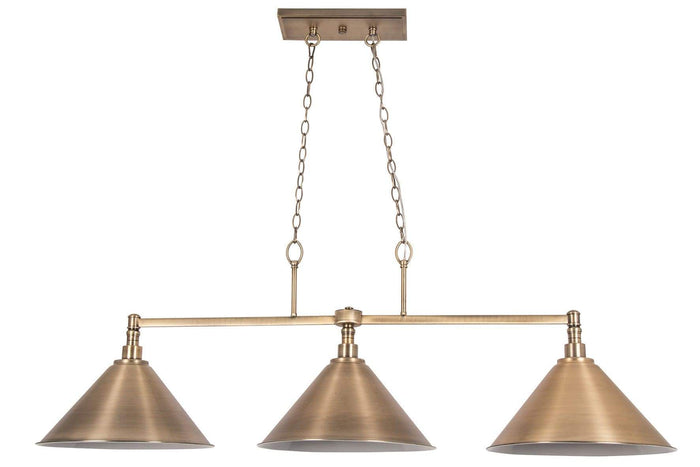 elevenpast Pendant Triple Antique Brass Pendant