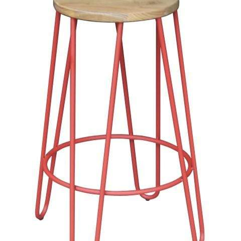 elevenpast Red Hairpin Kitchen Stool