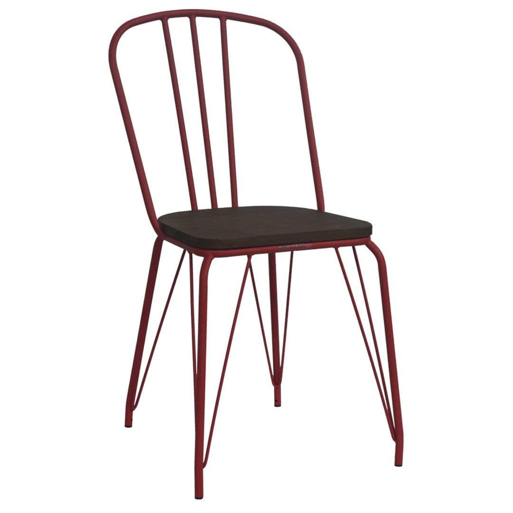 elevenpast Red Hairpin Wood Chair