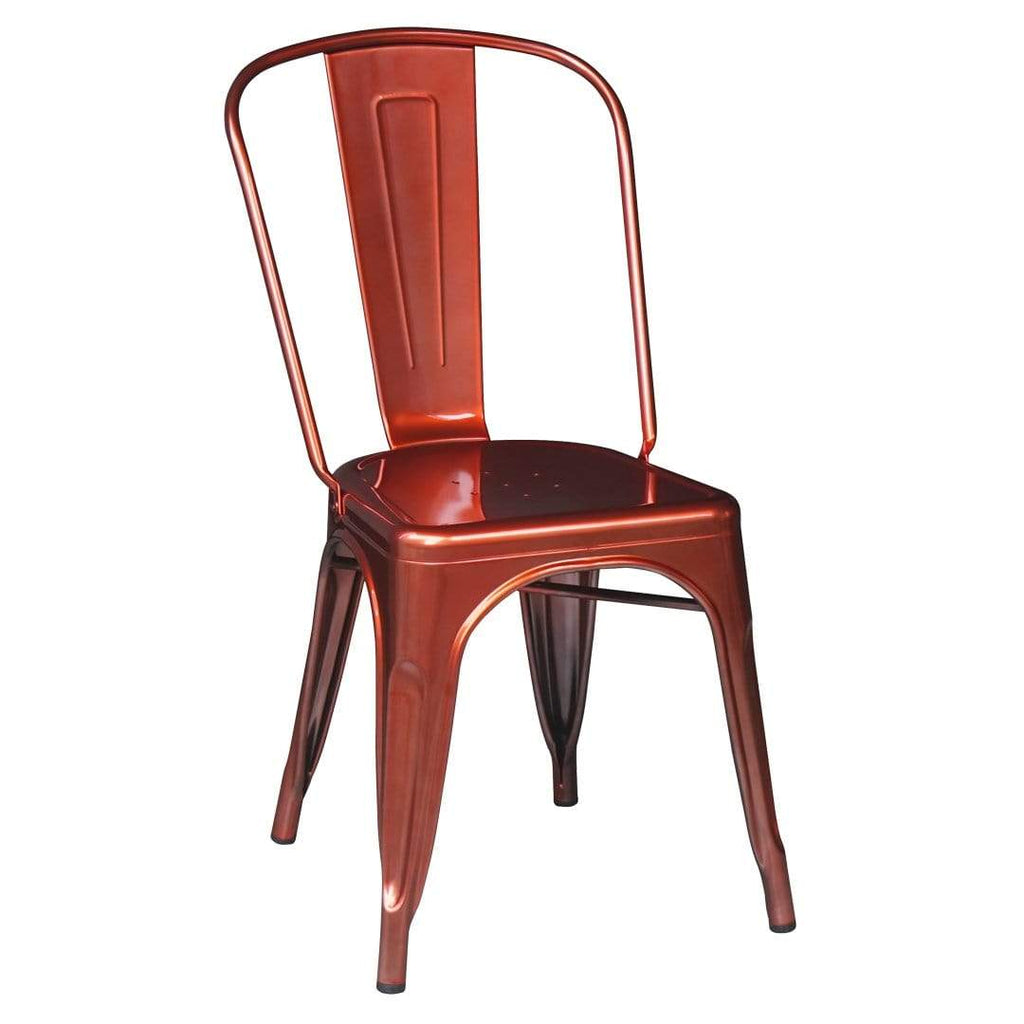 elevenpast Red Metalic Tolix Chair