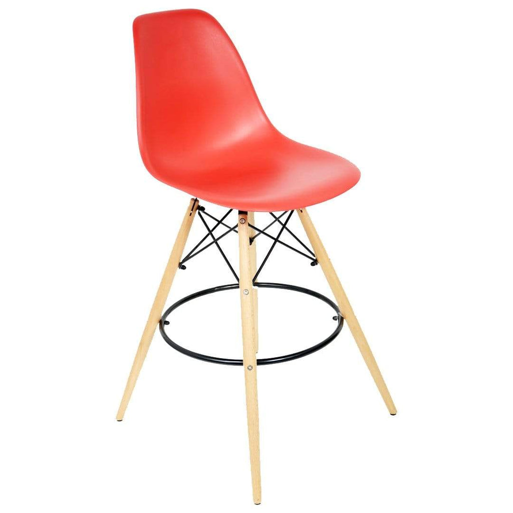 elevenpast Red Replica Eames Bar Stool