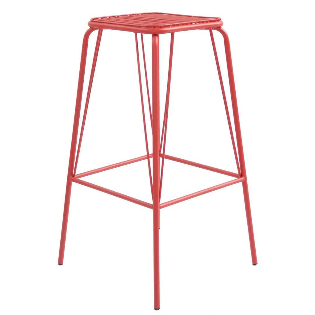 elevenpast Red Replica Wire Barstool