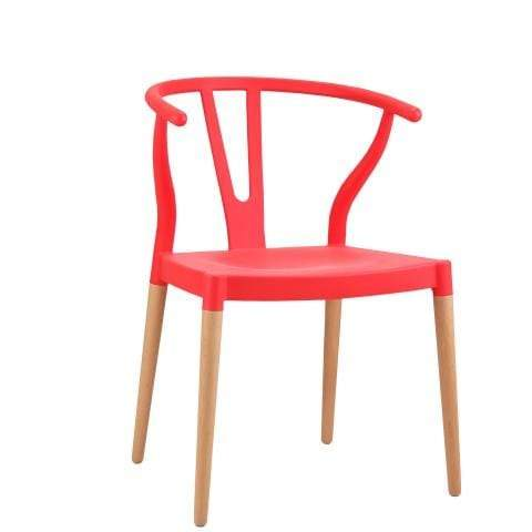 elevenpast Red Wegner Wishbone Replica Cafe Chair