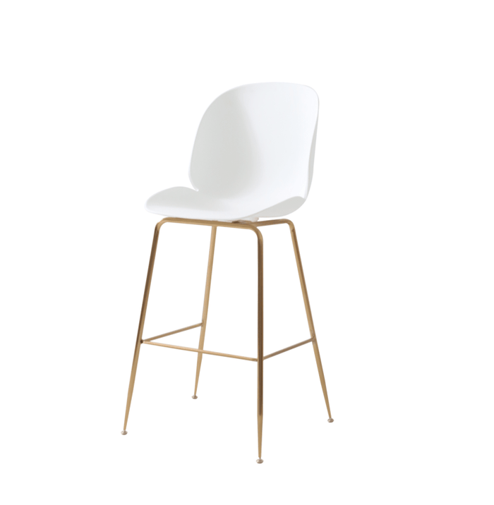 elevenpast Replica Beetle Kitchen Stool Gold Frame