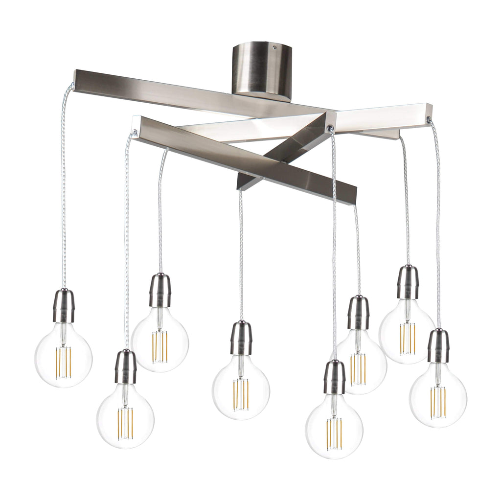 elevenpast Satin Chrome Mobile Pendant 8 Light