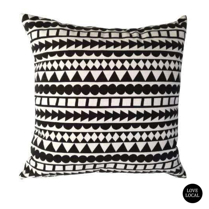 elevenpast Scatter Cushions Black Tribal Stripe Cushion Cover