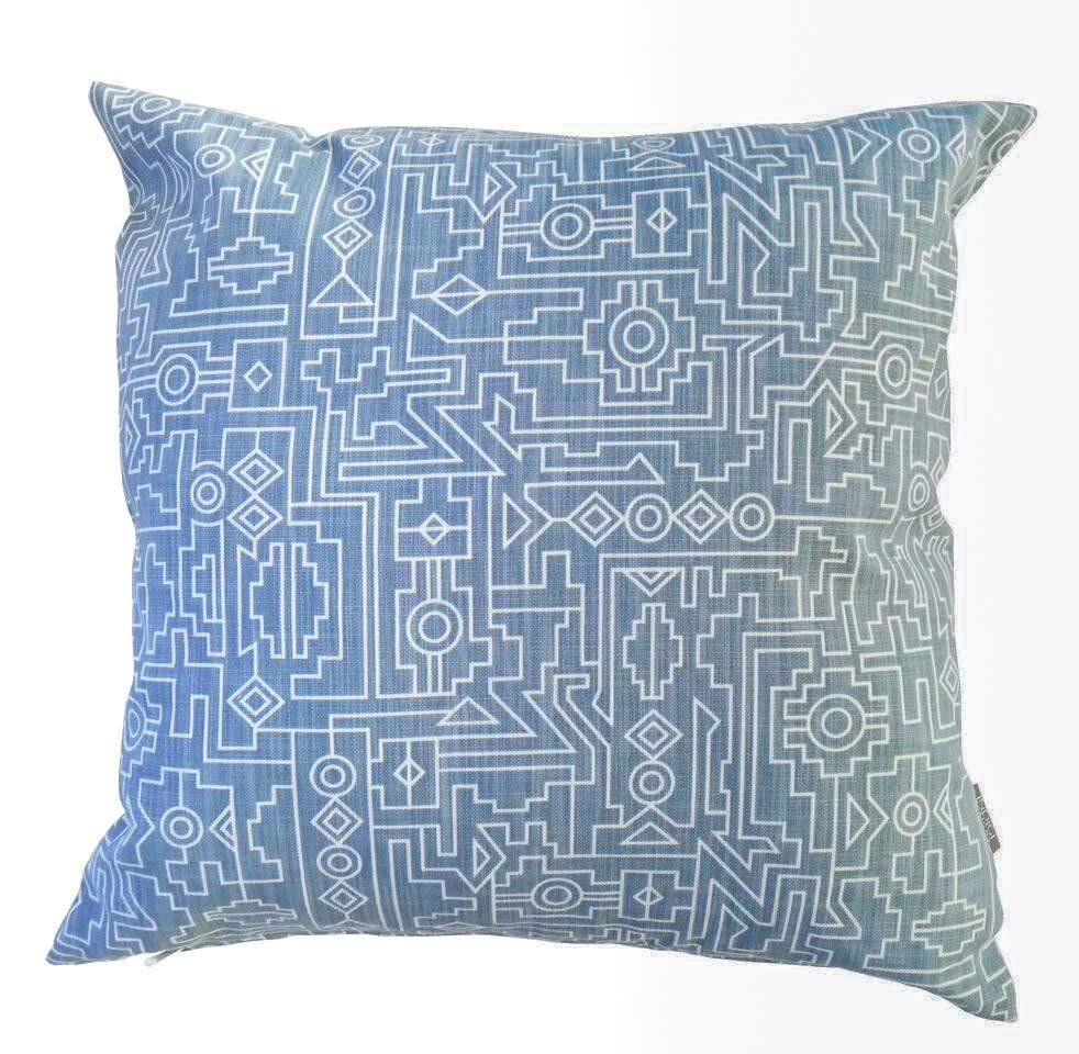 elevenpast Scatter Cushions Dusty Blue Ndemetric Scatter Cushion Cover