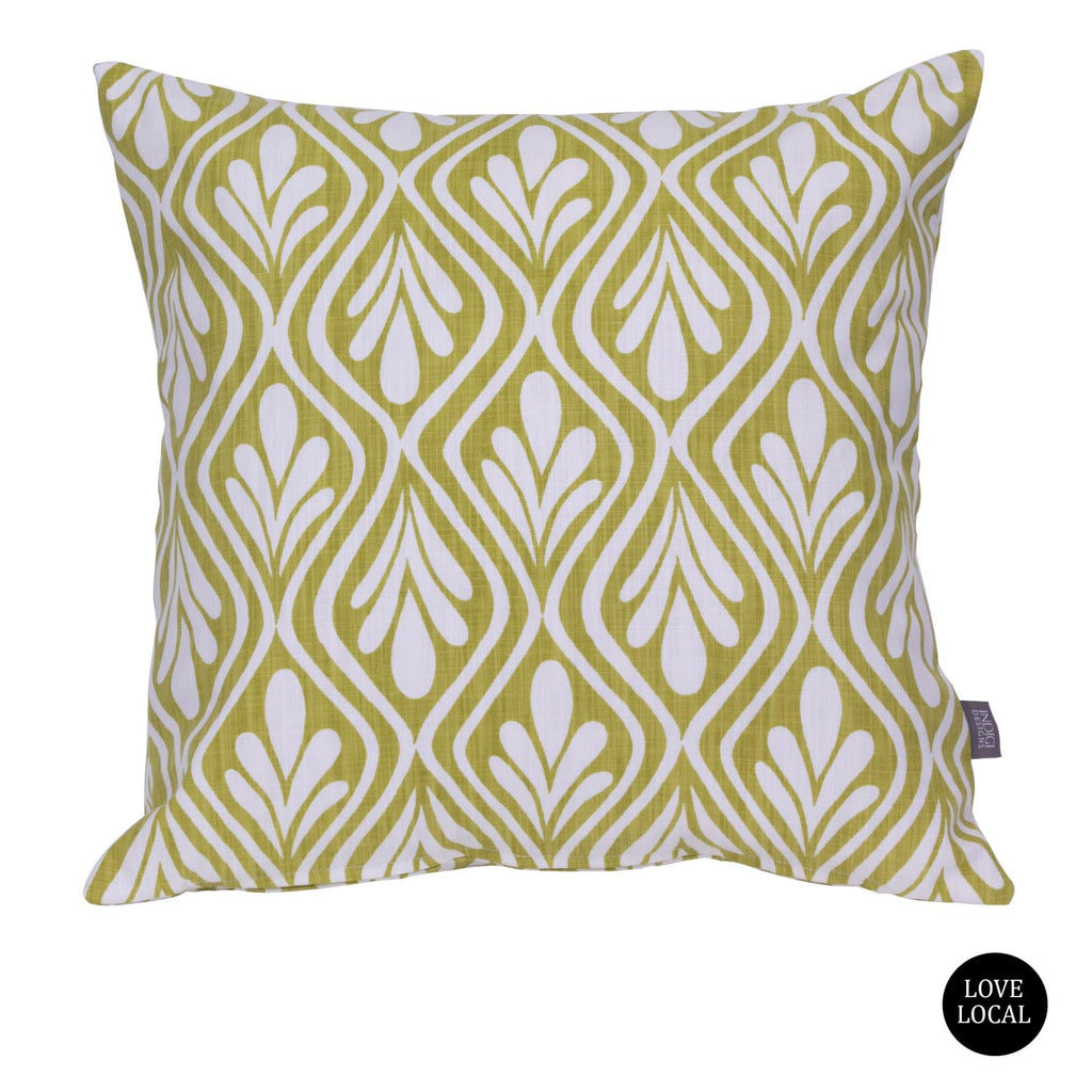 elevenpast Scatter Cushions Harvest Indigi Henna Leaves Cushion Cover