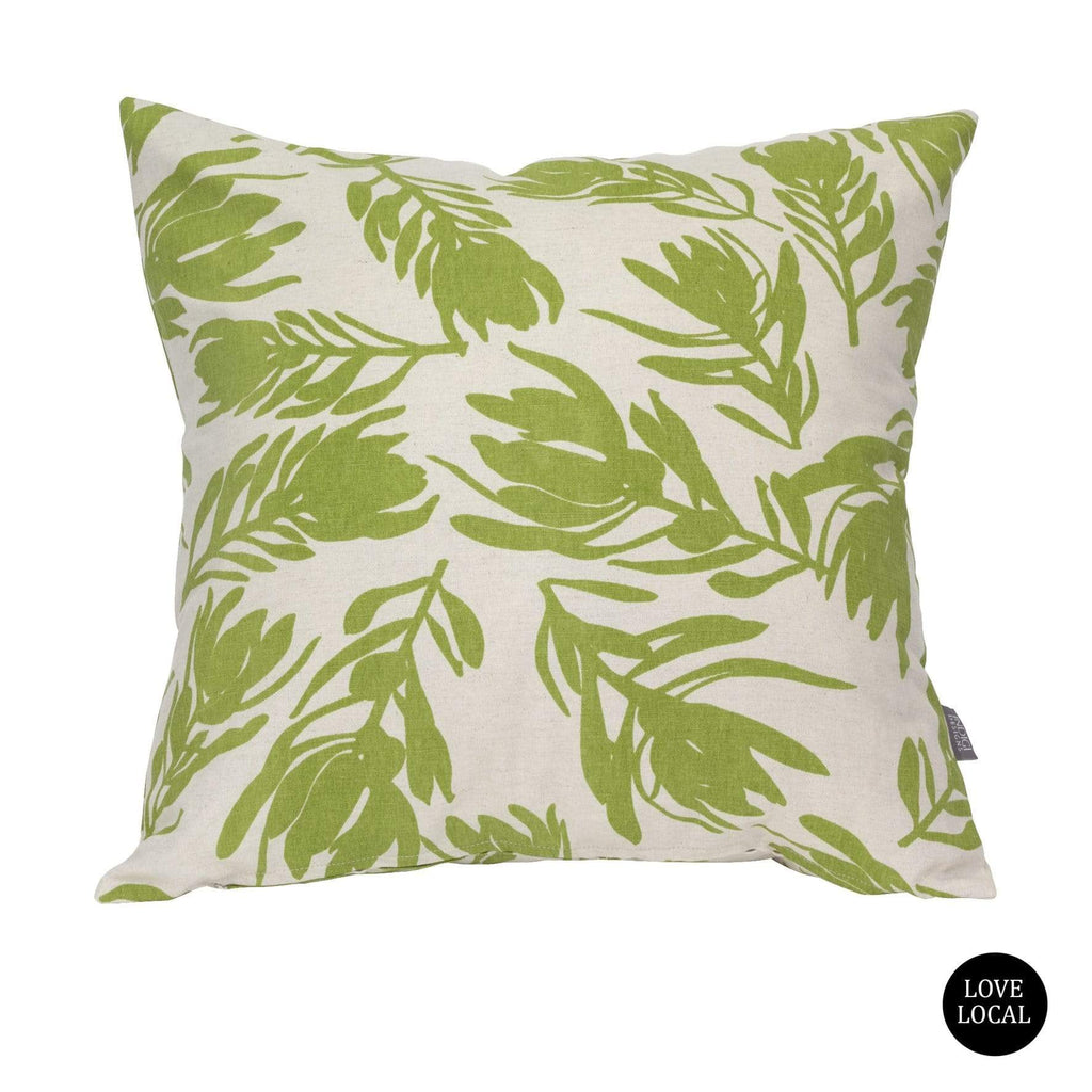 elevenpast Scatter Cushions Olive Conebush White Cushion Cover