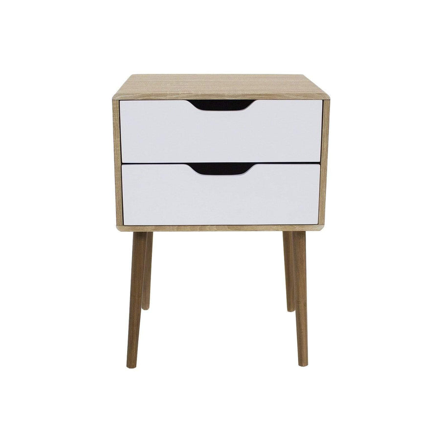 elevenpast Side tables Contemporary Bedside Pedestal 2 Drawers White