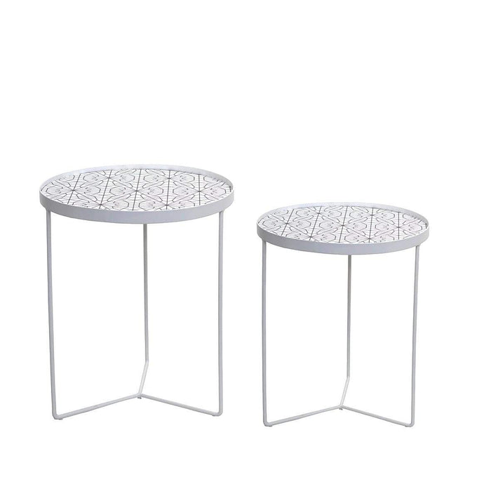 elevenpast Side tables Geo Side Table Set of 2