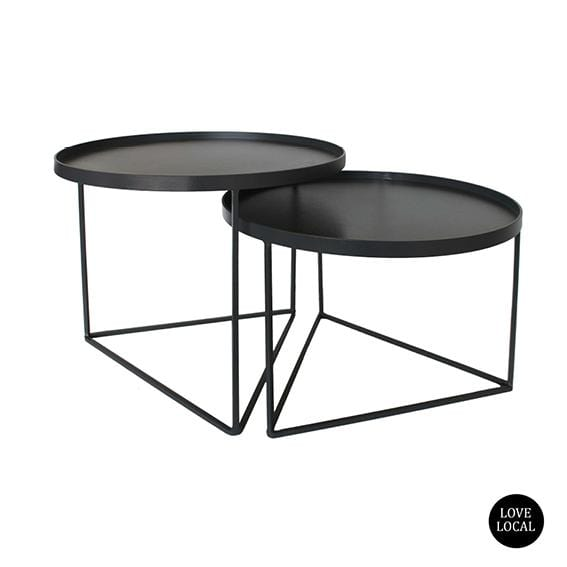 elevenpast Side tables Laurel and Hardy Table set