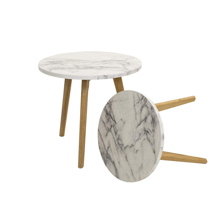 elevenpast Side tables Nesting Side Table Marble