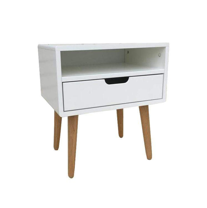 elevenpast Side tables Nord Bedside Table - 1 Drawer with Shelve