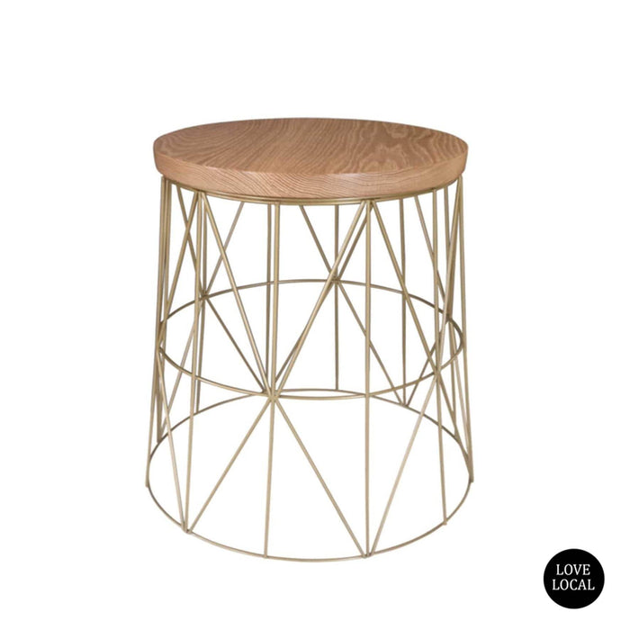 elevenpast Side tables Pythag Side Table Gold Oak Top