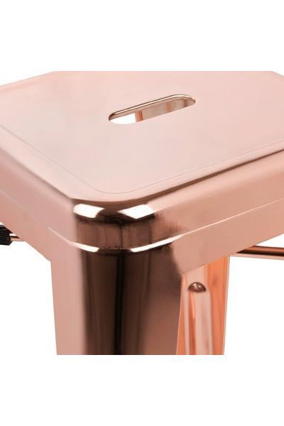 elevenpast Silver Metallic Replica Tolix Bar Stool