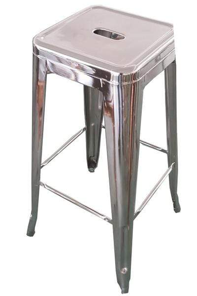 elevenpast Silver Metallic Replica Tolix Kitchen Stool