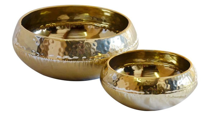 elevenpast Small Gold Champagne Bowl