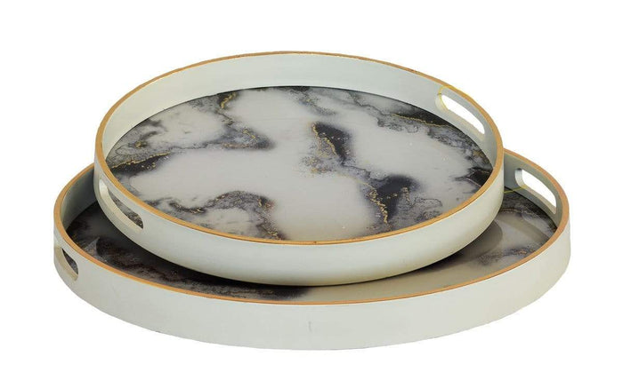 elevenpast Small Marble Cloud Glass Tray