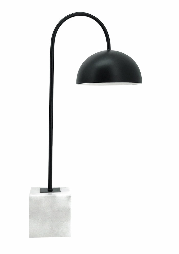 elevenpast table lamp Chester Black and Marble Desk Lamp