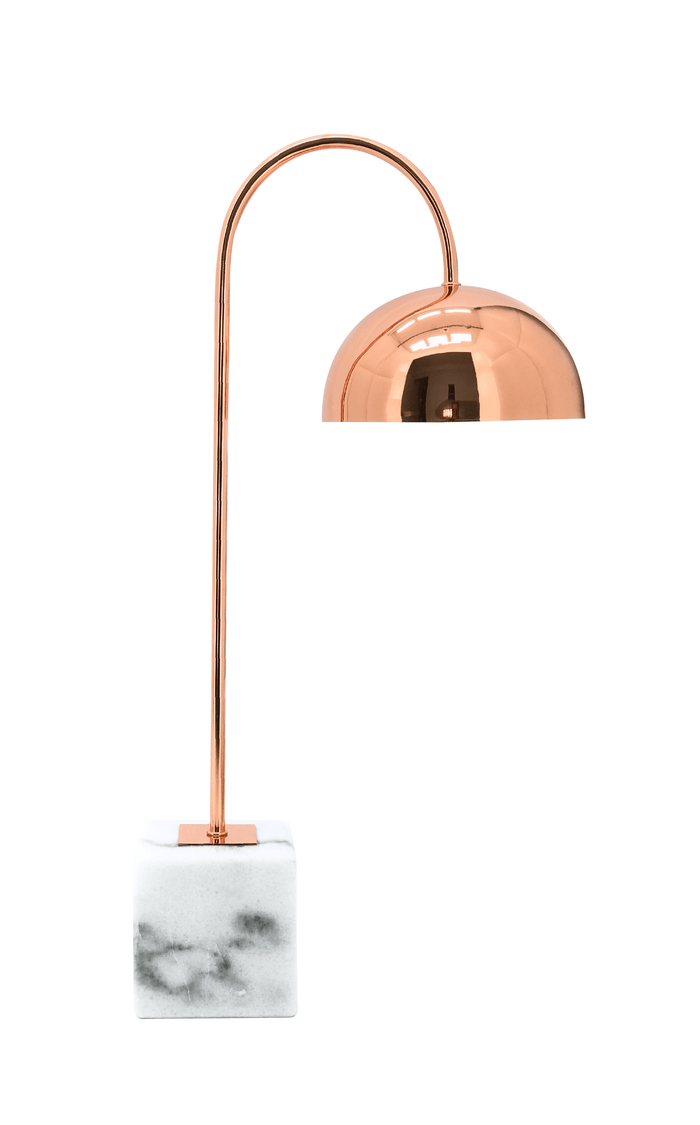 elevenpast table lamp Chester Copper and Marble Desk Lamp